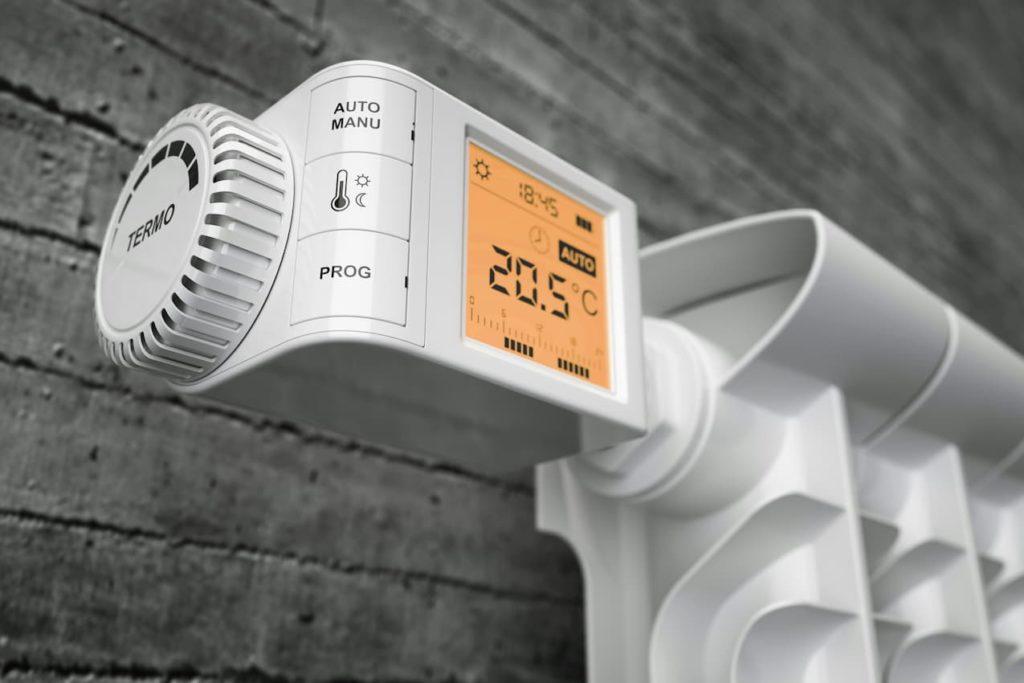 thermostat sur radiateur électrique